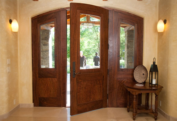 Coffman Adams Front Door-Claro walnut